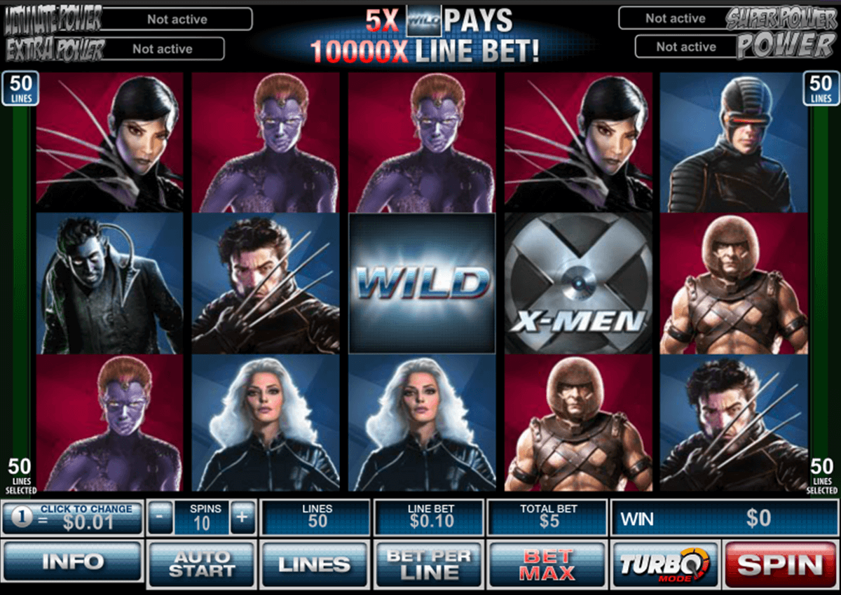 X-Men 50 Lines Slot - Play for Free Instantly Online