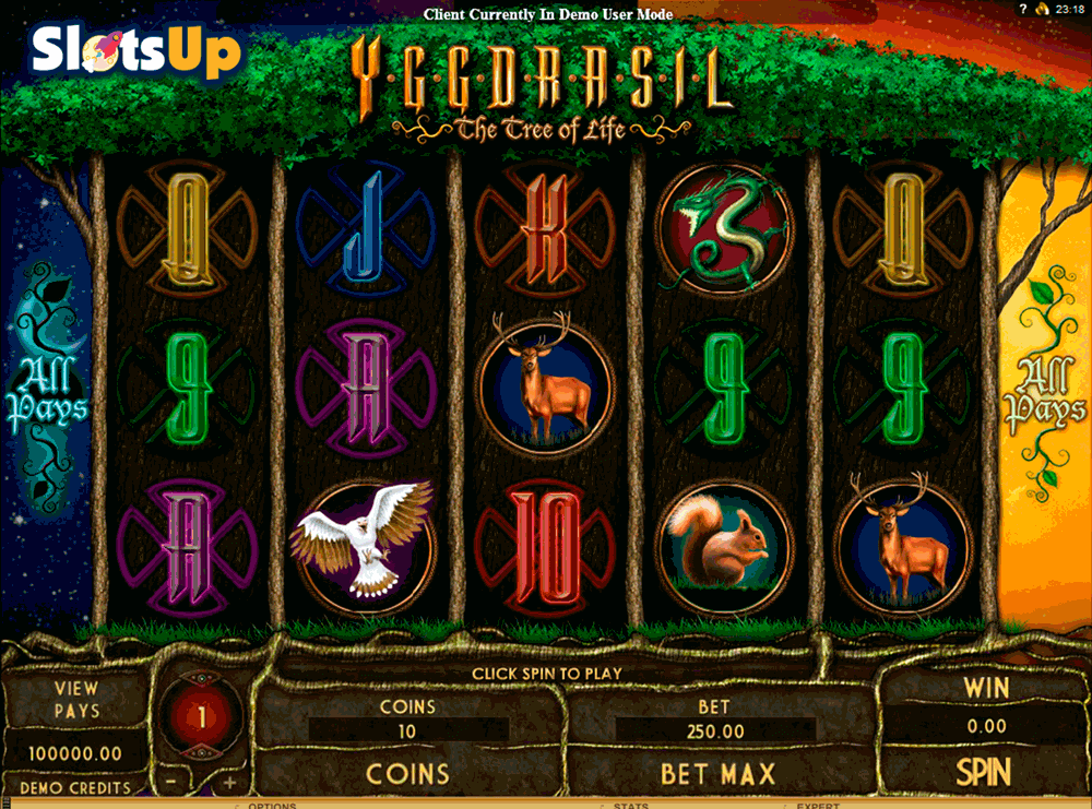 YGGDRASIL THE TREE OF LIFE GENESIS CASINO SLOTS