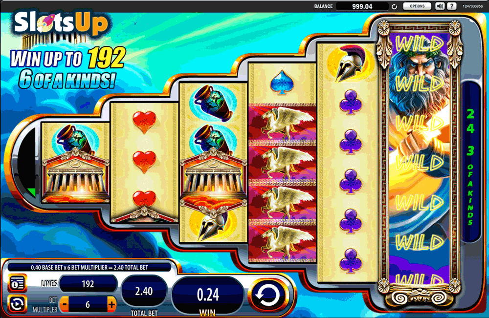 Zeus 3™ Slot Machine Game to Play Free in WMS Gamings Online Casinos