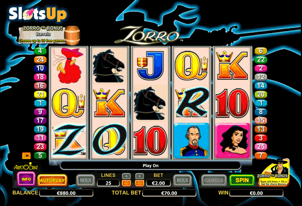 casino games zorro