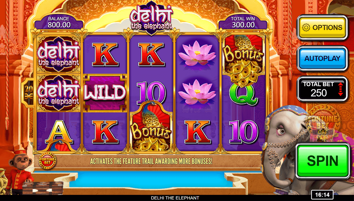 DELHI THE ELEPHANT INSPIRED GAMING CASINO SLOTS
