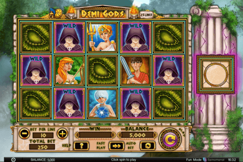 DEMI GODS SPINOMENAL CASINO SLOTS