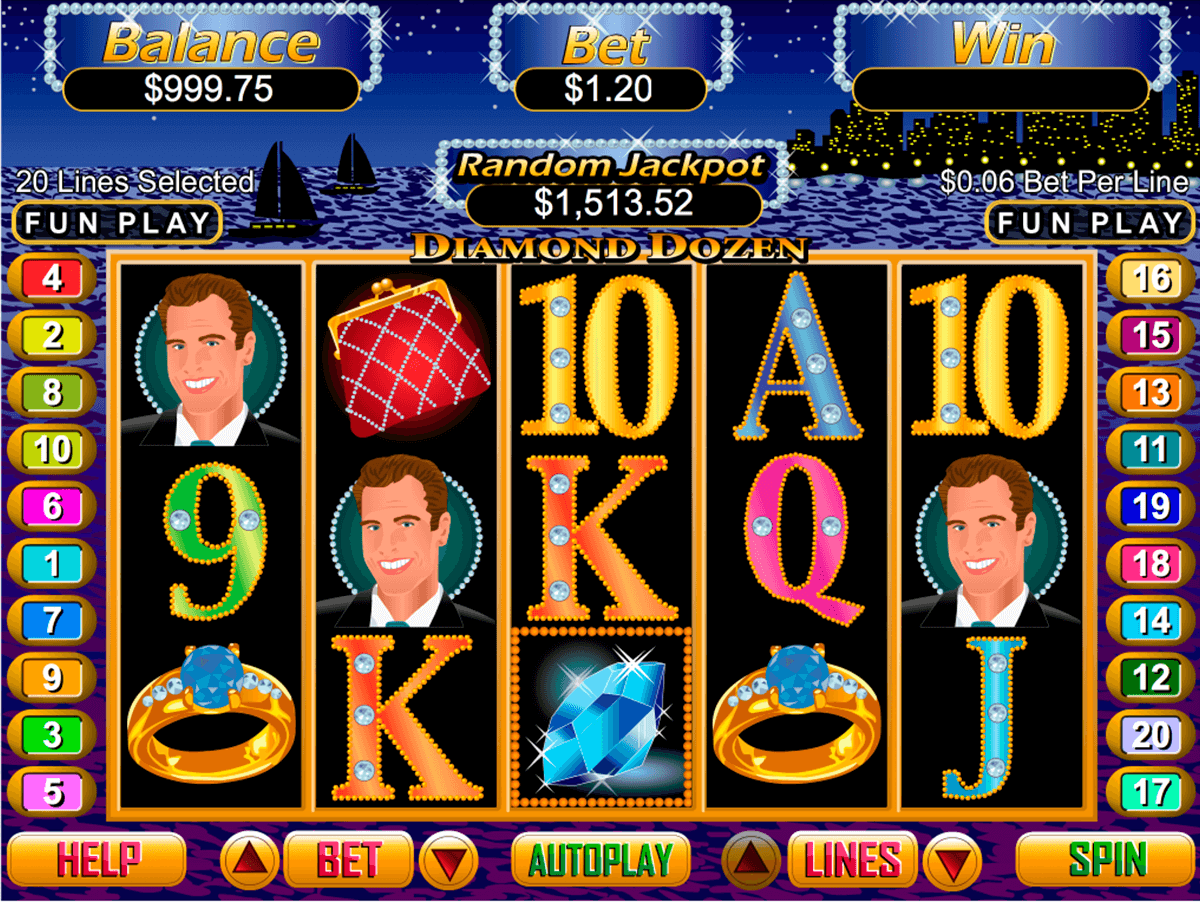 DIAMOND DOZEN RTG CASINO SLOTS