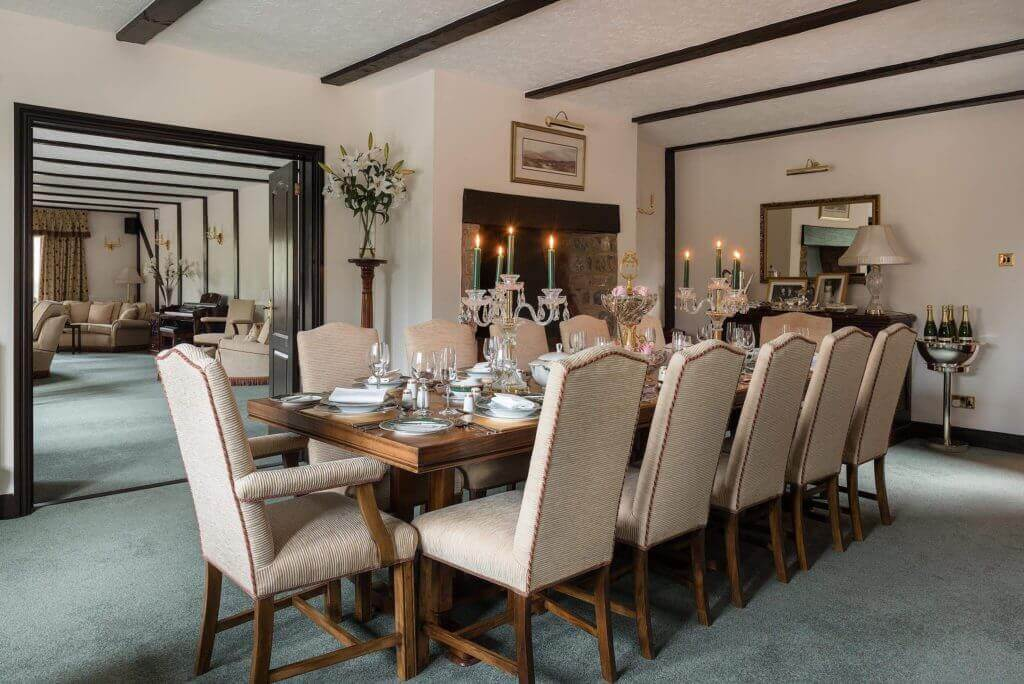 DINING ROOM IN MILLIONAIE MANSION