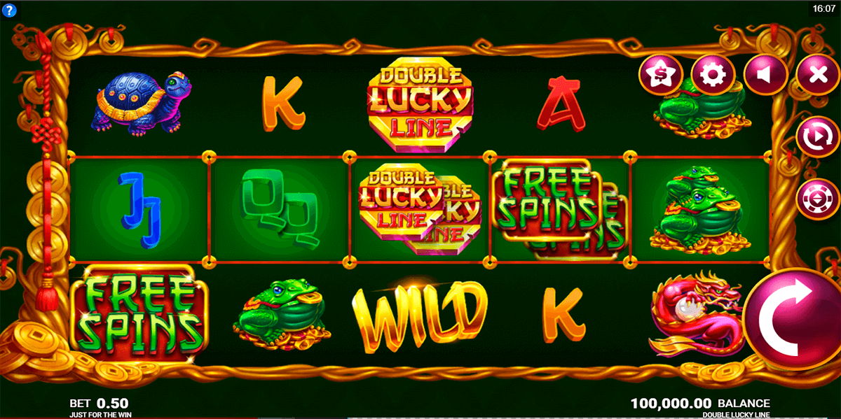 double lucky line just for the win casino slots
