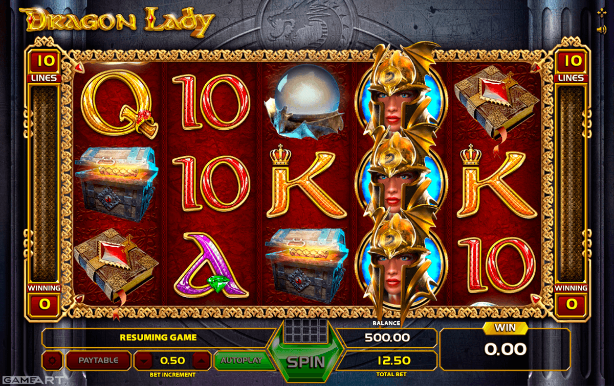 dragon lady gameart casino slots