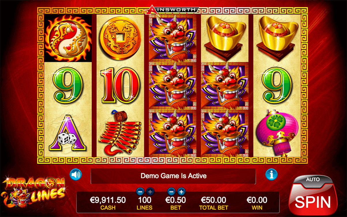 Dragon Lines™ Slot Machine Game to Play Free in Ainsworth Game Technologys Online Casinos