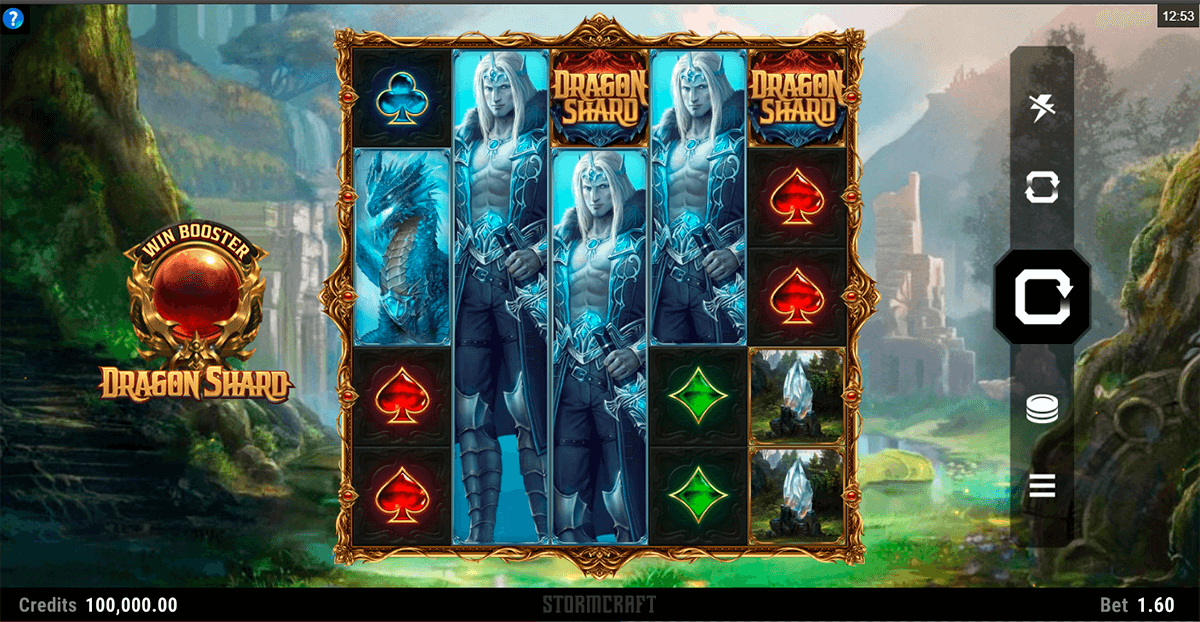 Dragon Shard slot review Dragon Shard slot by Microgaming will catch your eye with its opening sequence and artistic medieval fantasy background along with powerful classical music.The reels are also large and really well animated, probably because it was developed by an in-house studio, in this case StormCraft.5/5.Fethiye
