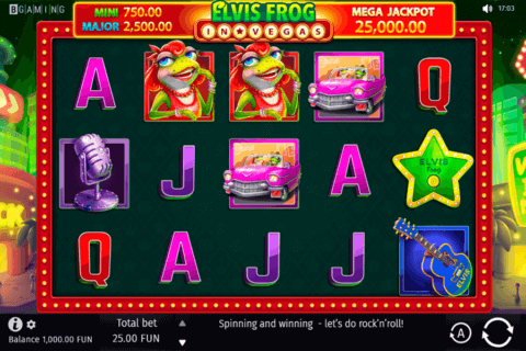 ELVIS FROG IN VEGAS BGAMING CASINO SLOTS