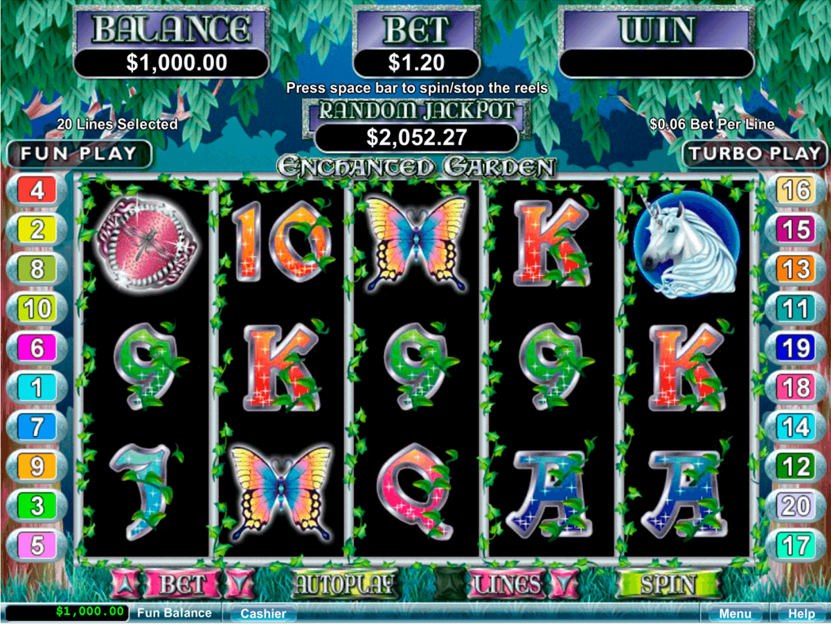 ENCHANTED GARDEN RTG CASINO SLOTS