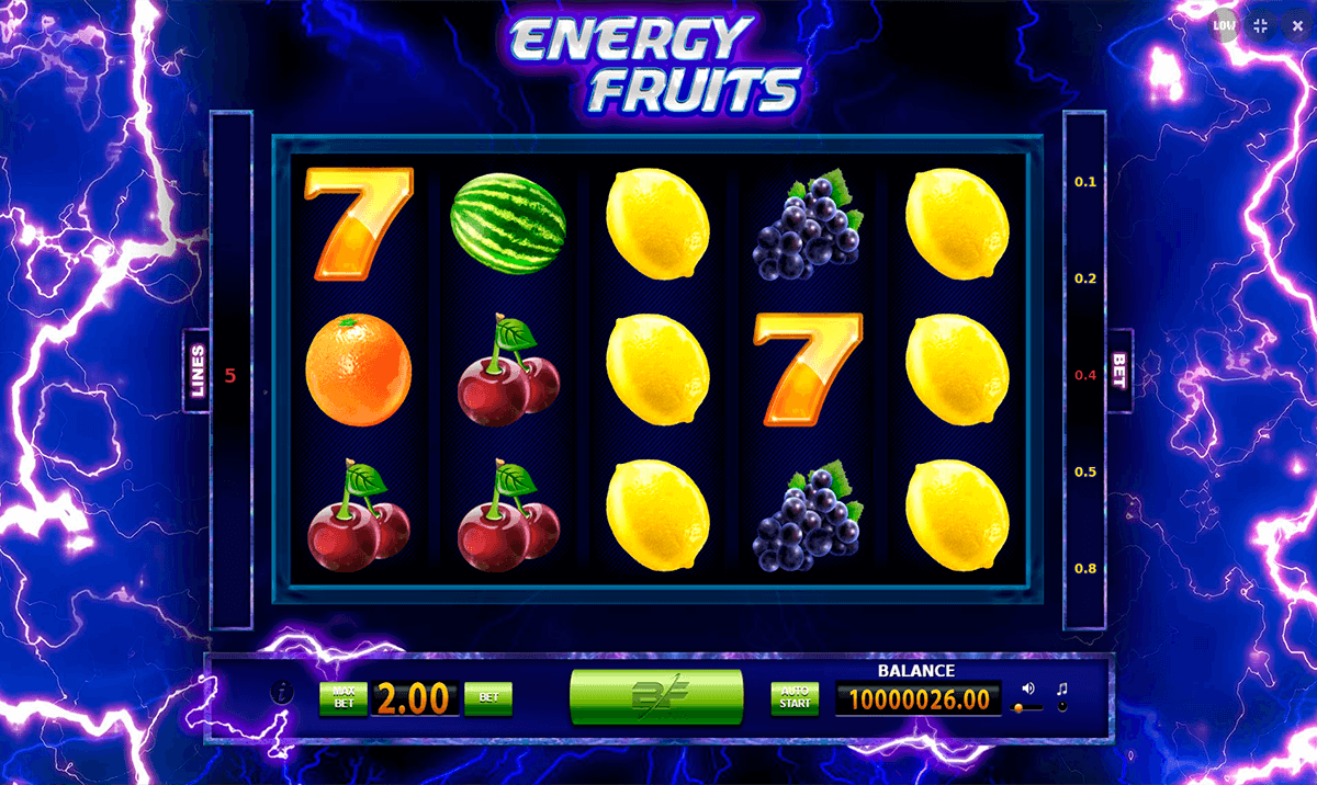Energy Fruits Slot - Read the Review and Play for Free