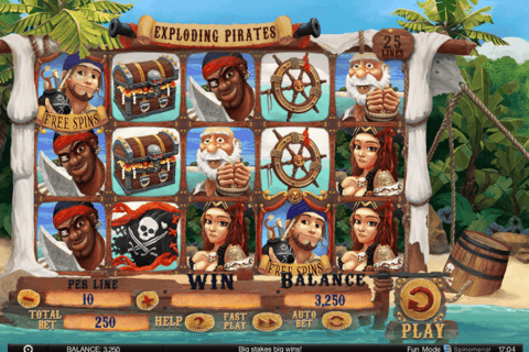 EXPLODING PIRATES SPINOMENAL CASINO SLOTS