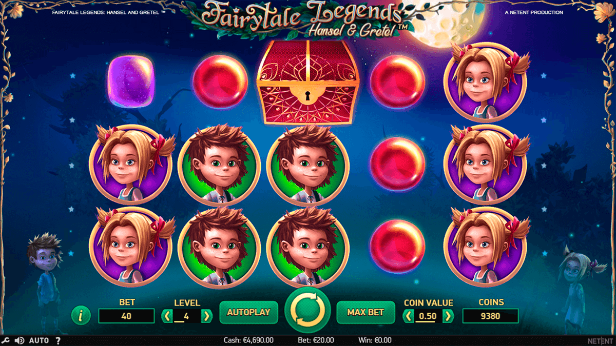 fairytale legends hansel and gretel netent casino slots