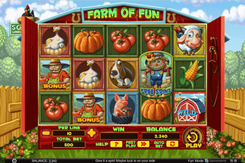 FARM OF FUN SPINOMENAL CASINO SLOTS