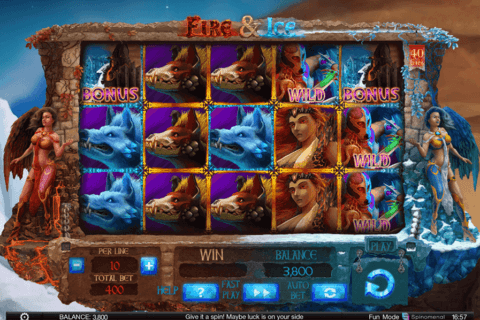 FIRE ICE SPINOMENAL CASINO SLOTS