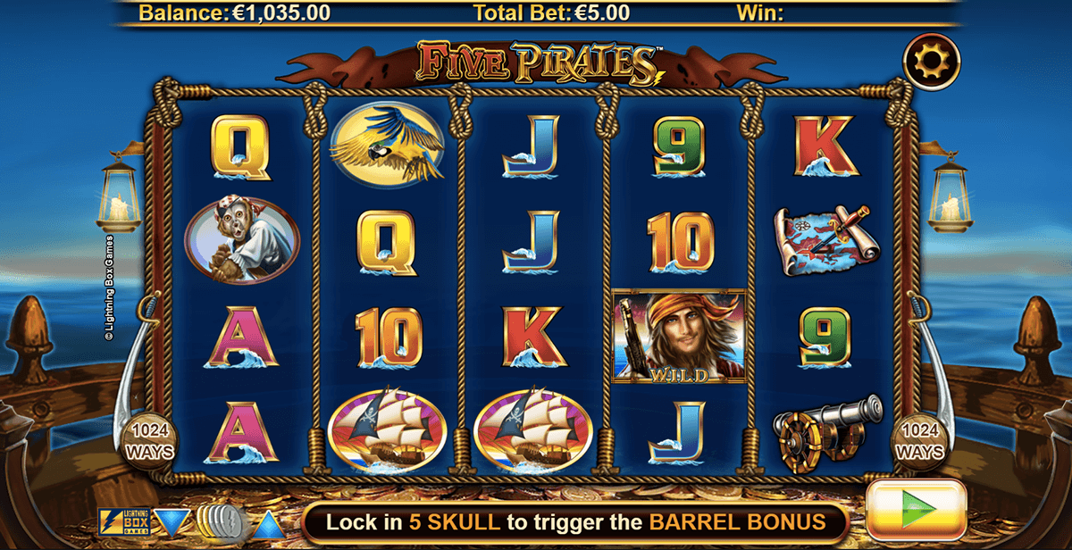 FIVE PIRATES LIGHTNING BOX CASINO SLOTS
