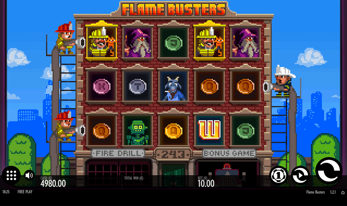 FLAME BUSTERS THUNDERKICK CASINO SLOTS