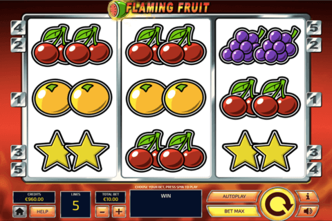 FLAMING FRUIT TOM HORN CASINO SLOTS