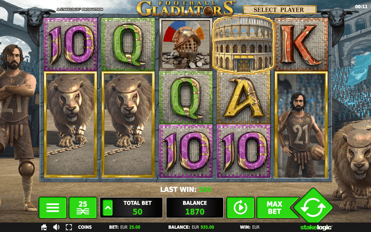 FOOTBALL GLADIATORS STAKE LOGIC CASINO SLOTS