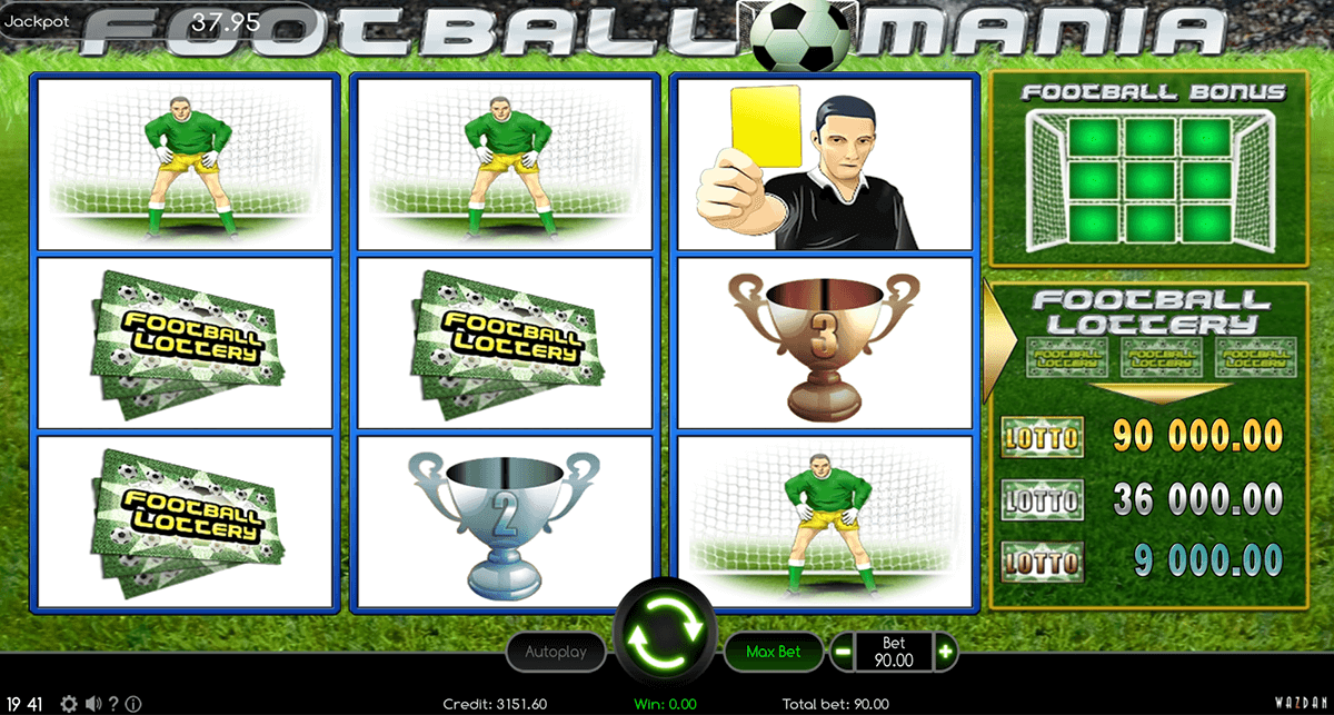 football mania wazdan casino slots