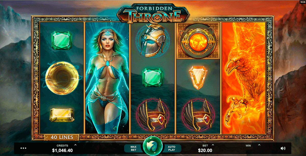 FORBIDDEN THRONE MICROGAMING CASINO SLOTS
