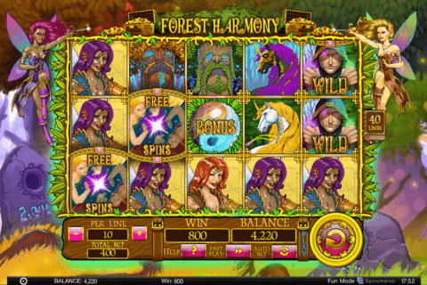 forest harmony spinomenal casino slots