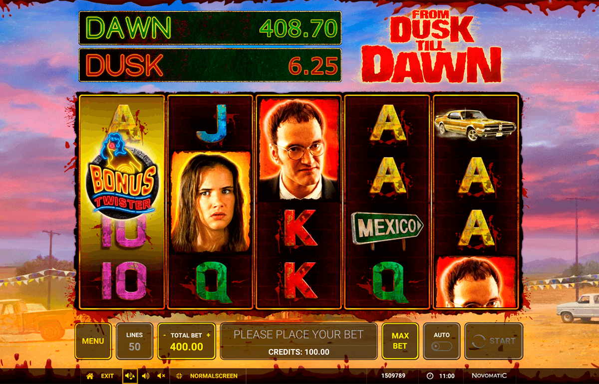 Play the new From Dusk Till Dawn slot from Novomatic
