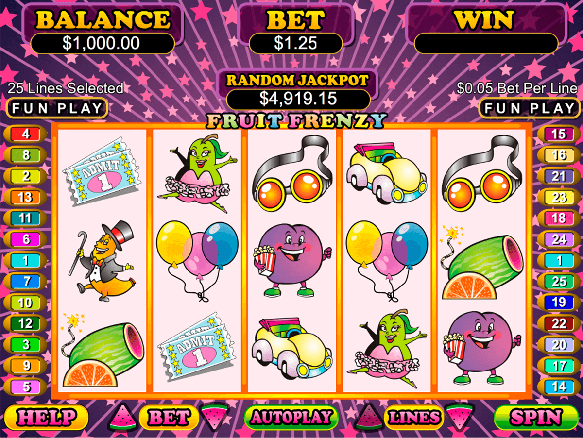 fruit frenzy rtg casino slots