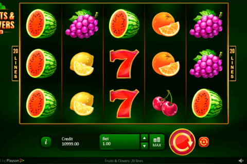 FRUITS CLOVERS 20 LINES PLAYSON CASINO SLOTS
