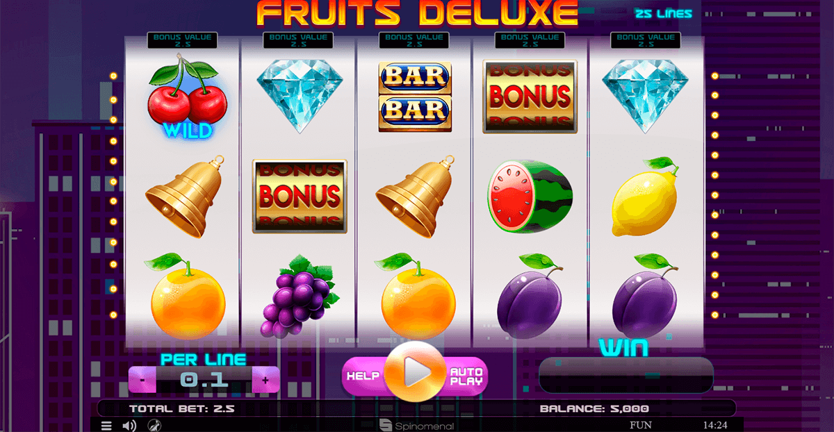 fruits deluxe spinomenal casino slots