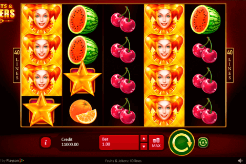 FRUITS JOKERS 40 LINES PLAYSON CASINO SLOTS