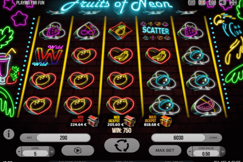 FRUITS OF NEON FUGASO CASINO SLOTS