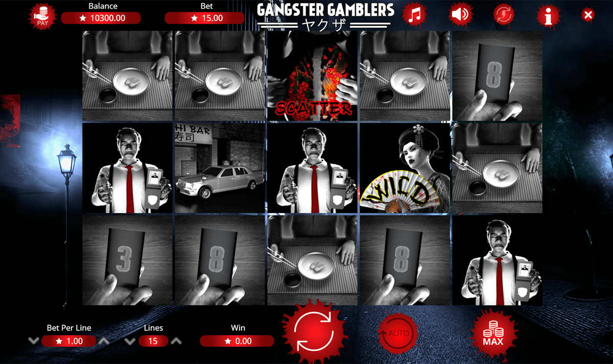 GANGSTER GAMBLERS BOOMING GAMES CASINO SLOTS