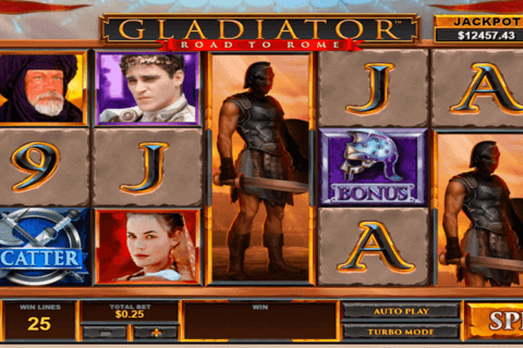GLADIATOR ROAD TO ROME PLAYTECH CASINO SLOTS