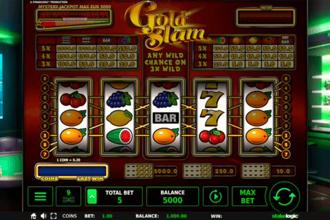 GOLD SLAM DELUX STAKE LOGIC CASINO SLOTS