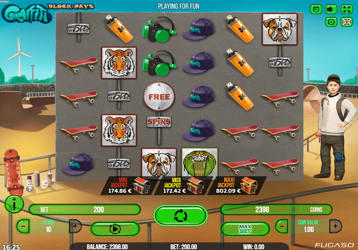 Graffiti™ Slot Machine Game to Play Free in Simbats Online Casinos