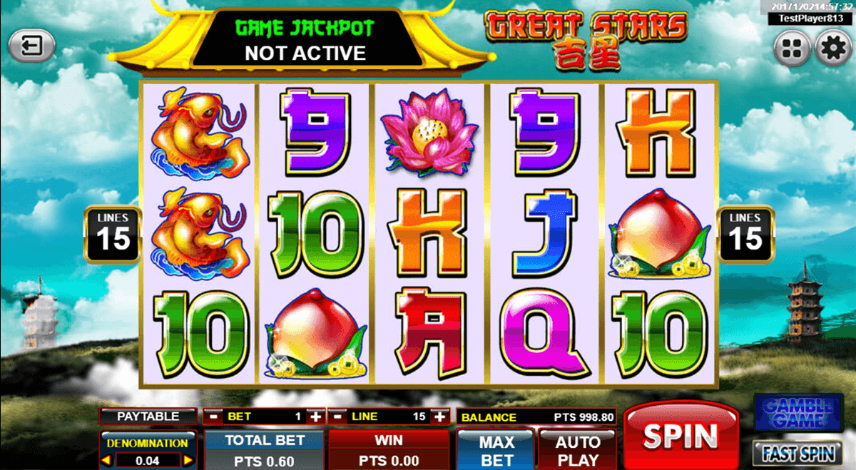 Great Stars Slot Machine Online ᐈ Spadegaming Casino Slots