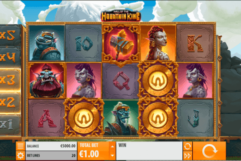 HALL OF THE MOUNTAIN KING QUICKSPIN CASINO SLOTS