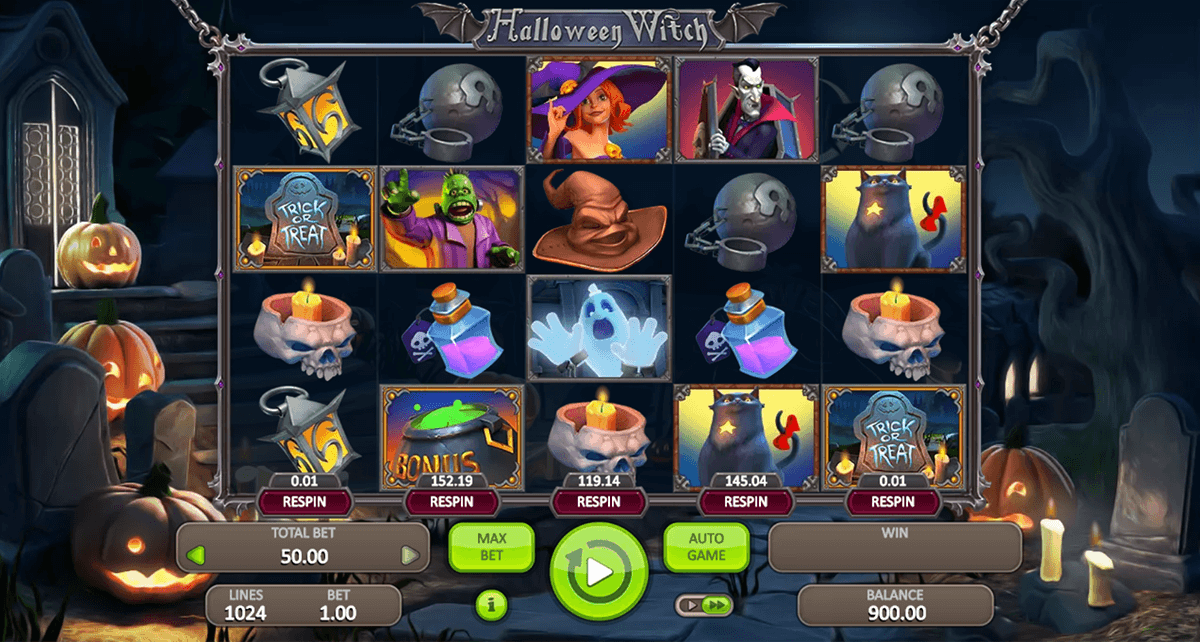 halloween witch booongo casino slots