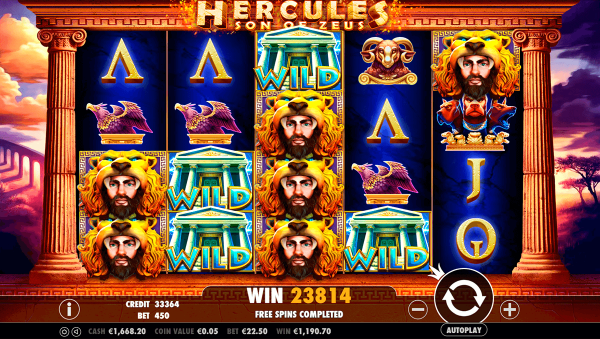 HERCULES SON OF ZEUS PRAGMATIC CASINO SLOTS