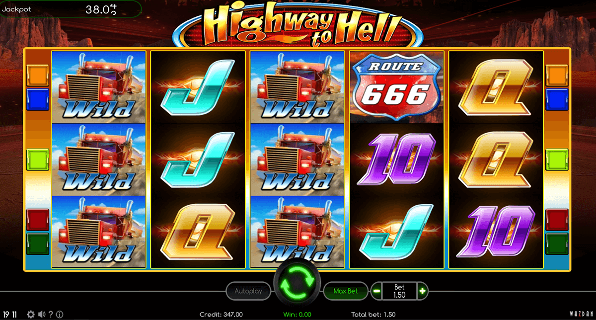 HIGHWAY TO HELL WAZDAN CASINO SLOTS