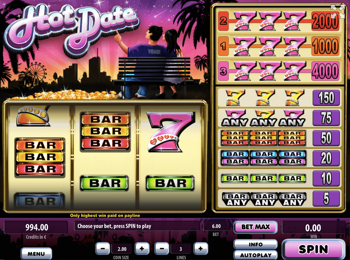 HOT DATE TOM HORN CASINO SLOTS