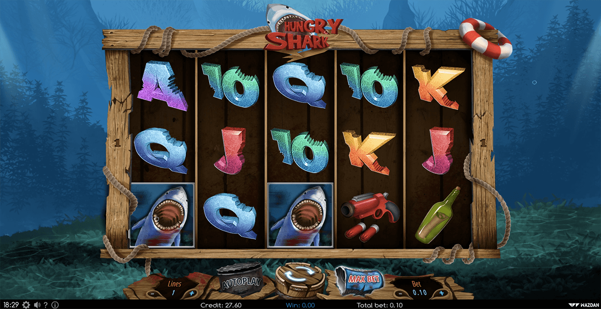 hungry shark wazdan casino slots