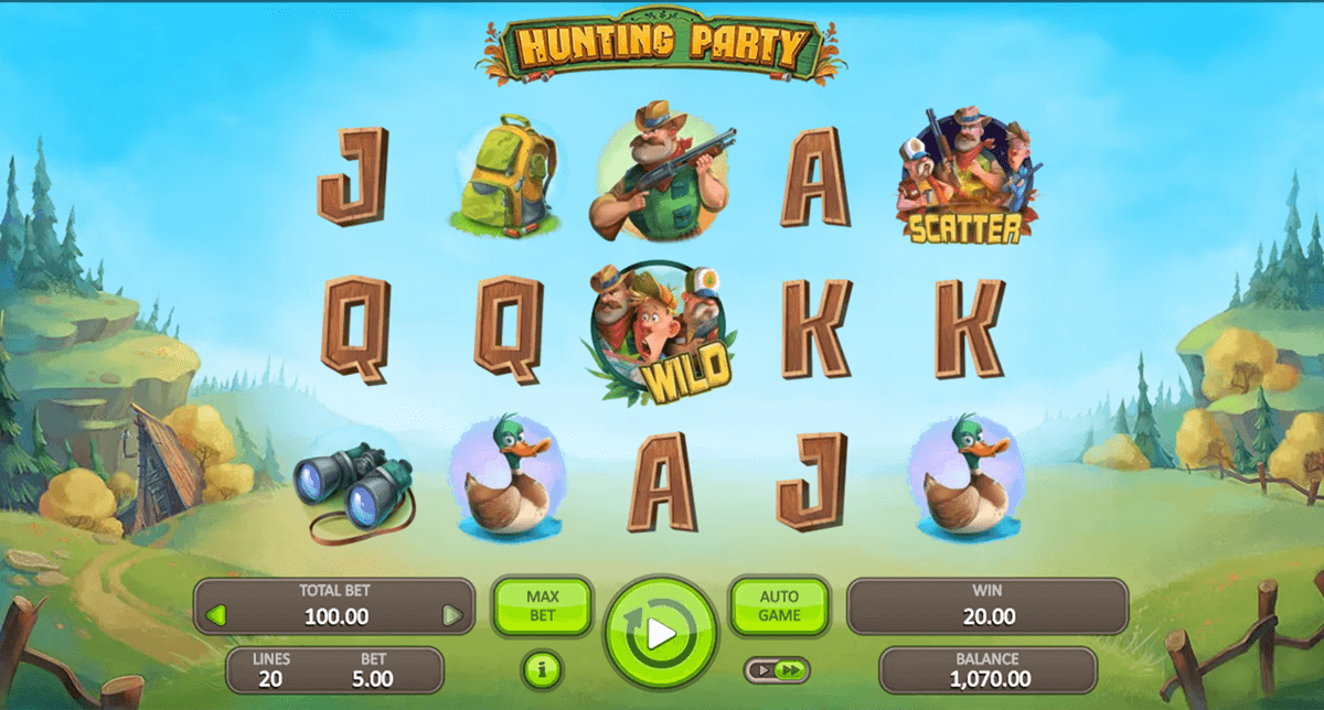 HUNTING PARTY BOOONGO CASINO SLOTS
