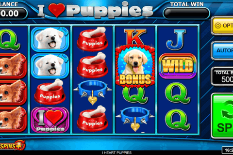 I HEART PUPPIES INSPIRED GAMING CASINO SLOTS