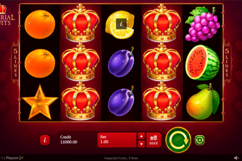 IMPERIAL FRUITS 5 LINES PLAYSON CASINO SLOTS
