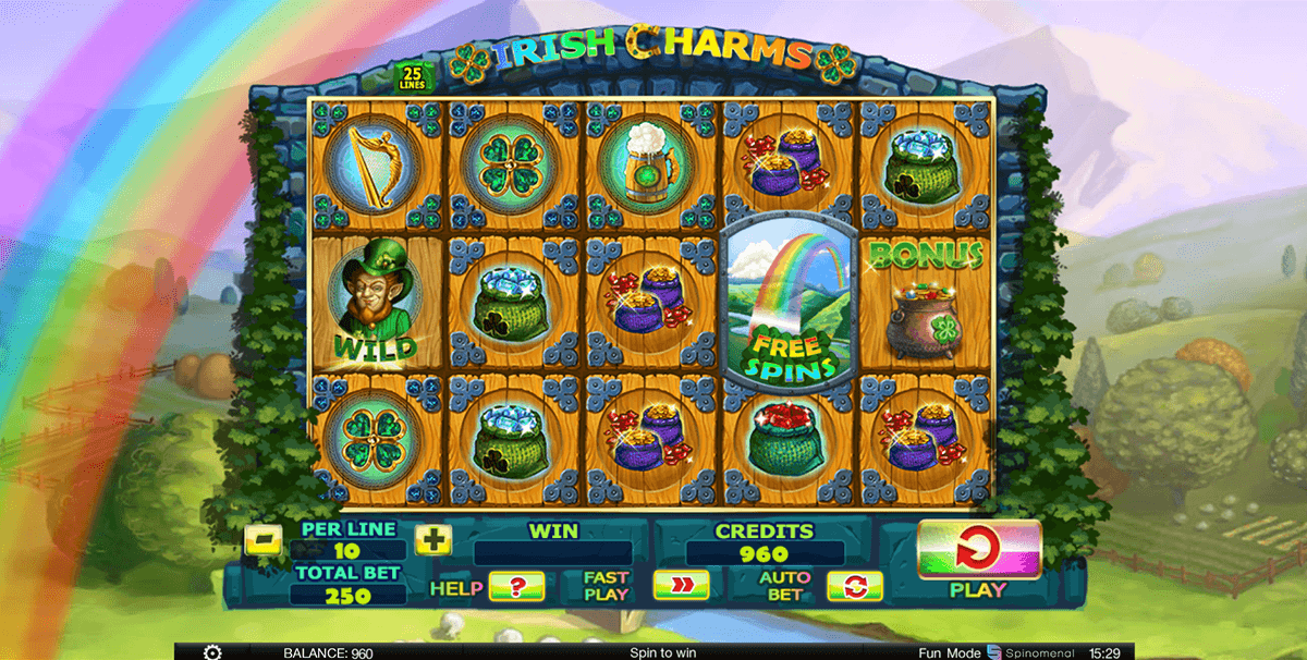 IRISH CHARMS SPINOMENAL CASINO SLOTS