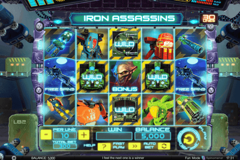 iron assassins spinomenal casino slots