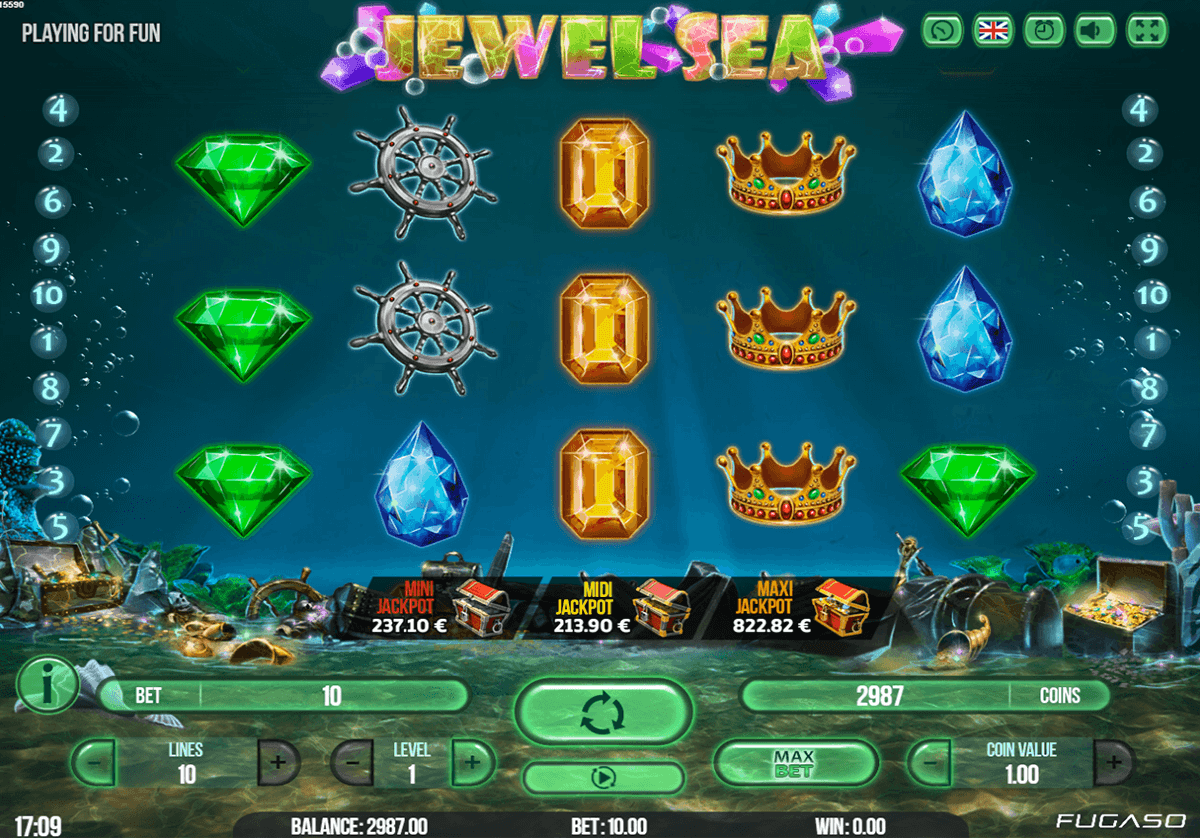 Jewel Sea Slot Machine Review & Free Instant Play Game