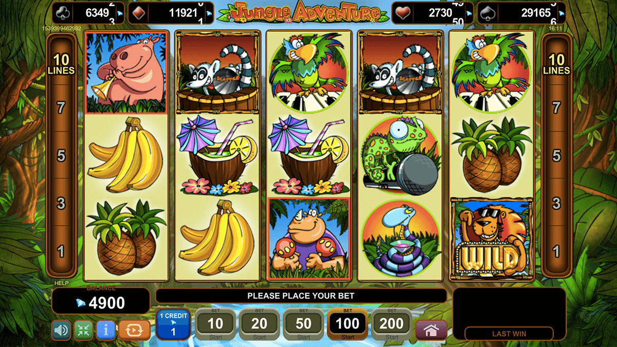 Jungle Adventure Slot Machine - Try for Free Online
